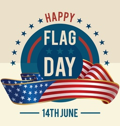 Flag Day of United States greeting card vector image