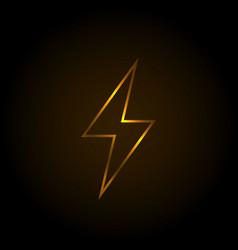 flash gradient light neon sign vector image