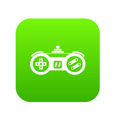 gamepad icon digital green vector image