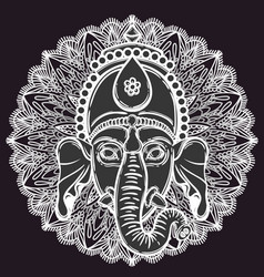 Ganesha hindu god elephant vector
