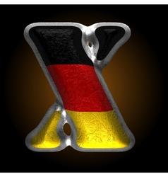 Germany metal figure x vector