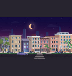 ghetto landscape at night vector image