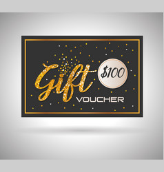gift voucher card with ribbon vector image