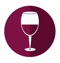 glass cup wine drink shadow vector image