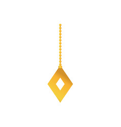 gold diamond hanging decoration to merry christmas vector image