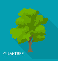 Gum tree icon flat style vector