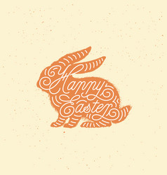 Happy easter lettering vector