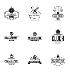 implementor logo set simple style vector image