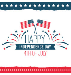 independence day united states poster set vector image