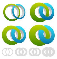 Interlocking circles rings infinite symbol or vector
