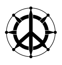 Isolated abstract peace symbol vector