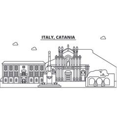 Italy catania line skyline vector