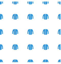 jacket icon pattern seamless white background vector image