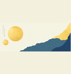 Japanese banner with abstract landscape vector