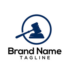 Law symbol logo template vector