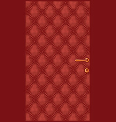 Leather door vector