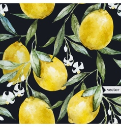 Lemon pattern8 vector image