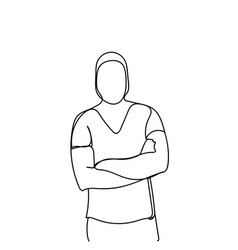 male silhouette doodle portrait of man isolated vector image