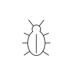 Malware bug icon vector