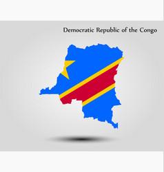 map democratic republic congo vector image