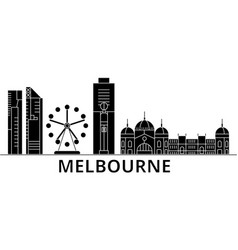 Melbourne architecture city skyline travel vector