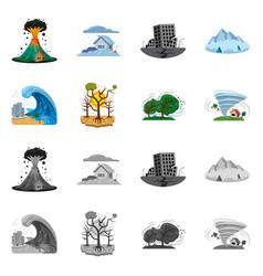 Natural and disaster symbol vector