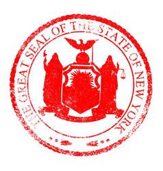 new york seal stamp vector image