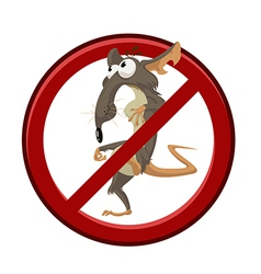 No cartoon rat vector image