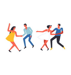 party people having fun and dancing together vector image