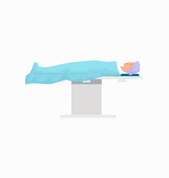 patient on surgical table icon vector image