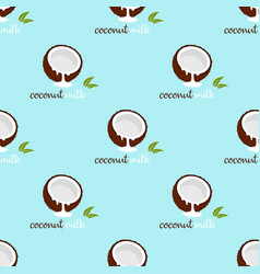 Pattern with coconut milk vector