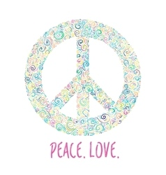 Peace sign on white for International Peace Day vector
