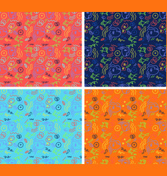 Picasso abstract pattern background vector