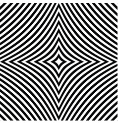 Radial black white lines with deformation vector