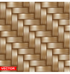 Realistic braided wooden wicker seamless texture vector