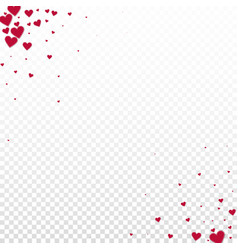 Red heart love confettis valentines day corner n vector