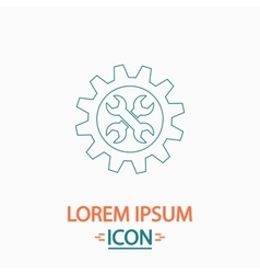 Service computer symbol vector