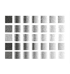 Set of 35 square stipple pattern for design Tile vector