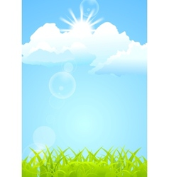 Shiny summer background vector image