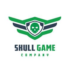 skull game logo design vector image