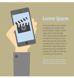 smartphone movie vector image