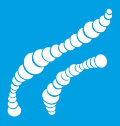 spiral bacteria icon white vector image