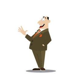 Successful businessman in a suit vector