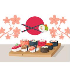Sushi restaurant serving vector