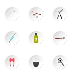 Teeth icons set flat style vector