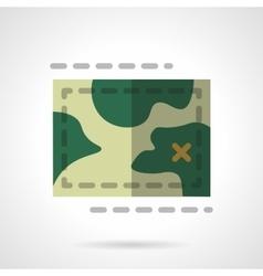 Terrain map flat color design icon vector image