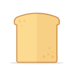 Toast bread slice icon vector