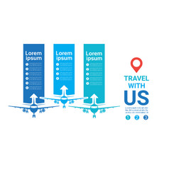 travel with us template posters airplanes vector image