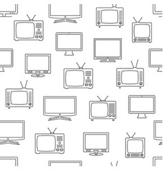 Tv seamless pattern vector