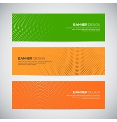 Banners with abstract colorful random geometric vector image vector image